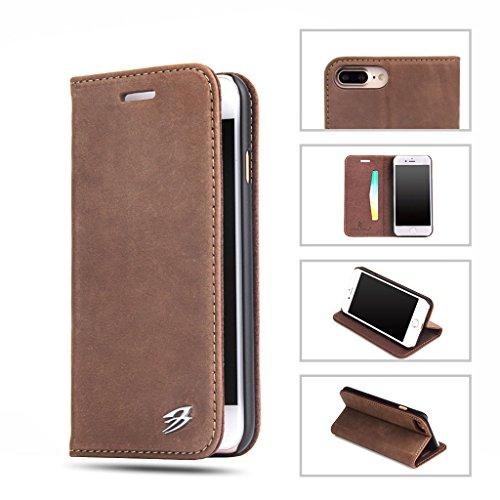 iPhone 7 Plus Echtem Leder Hülle,Careynoce Luxus Handgefertigt Echtem Leder Brieftasche Magnetischen Flip Schutzhülle für Apple iPhone 7 Plus(5.5 Zoll) -- Klassisches Krokodil muster (Grün) M07