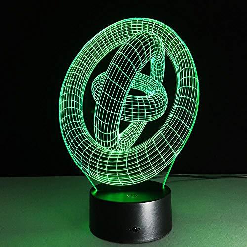 ARXYD Künstlerische Abstrakte Rad 3D Farbwechsel Licht Lampe Kinder Tischlampe 7 Farbe Touch Fernbedienung Schalter Dekorative Lichter Weihnachten Geburtstagsgeschenk Nachtlicht