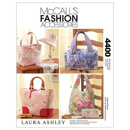 McCall \'s Patterns M4400One Size Nur Handtaschen, Taschen, Hut und Accessoires, weiß, 1Stück