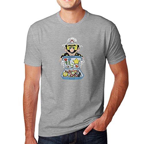 Planet Nerd Super Bag - Herren T-Shirt, Größe L, Grau Meliert