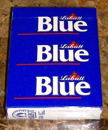 nouveaux-scelles-planche-vintage-labatt-reveille-matin-bleu-playing-cards-rares