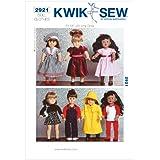 Kwik Sew Patterns K2921 - Patrones para ropa de muñeca (para muñecas de 45,7 cm)