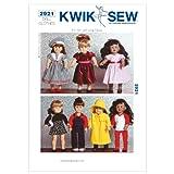 KWIK-SEW PATTERNS Kwik Sew Mustern k2921Größe passt 18Puppen Puppe Kleidung, weiß, 1Stück