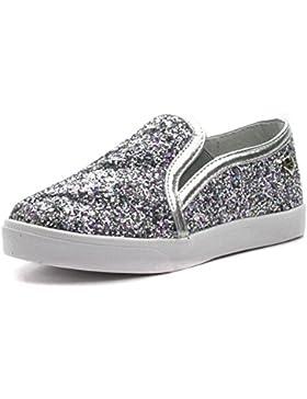 SMATT Step2wo Zapatos para Niñas in Plateado Glitter