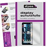 dipos I 6X Schutzfolie klar passend für Google Pixel 2 XL Folie Bildschirmschutzfolie
