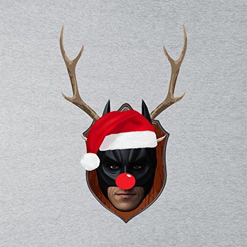 Batman Christmas Antler Head Men's Vest Heather Grey
