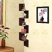 Acco & Deco Zigzag Corner Wall Mount Shelf Unit/Racks and Shelves/Wall Shelf/Book Shelf/Wall Decoration (M