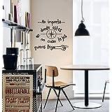 Vinilo decorativo pegatina pared, cristal, puerta (Varios colores a elegir)- frase