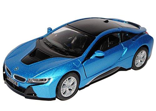 BMW I8 Coupe Blau Ab 2013 ca 1/43 1/36-1/46 Kinsmart Modell Auto (Car Remote-control Bmw)