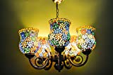SFL Unique Designe 5 Light Chandelier (MULTI COLOR) Beautiful Hand Work New Design