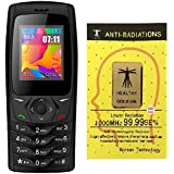 IKALL K6610 Dual Sim 1.8 Inch Display Basic Mobile Phone With Bluetooth, FM, Flash Light, GPRS, 1000 MAh Battery With Anti-Radiation Sticker (Black)