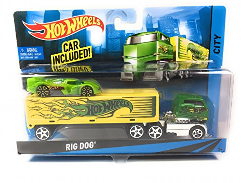 Hot Wheels City Rig Truck with Car Included Rig Truck