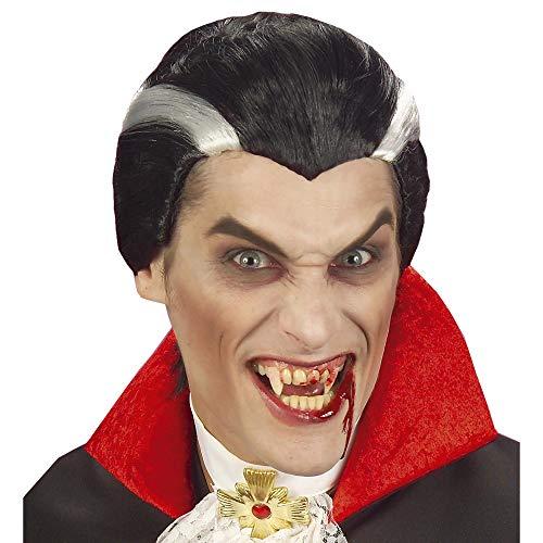 WIDMANN Vampiro In Sacchetto Parrucca Uomo Party E Carnevale Giocattolo 719 Ragazzo, Multicolore, 8003558634408