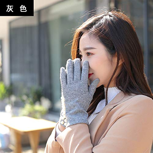 51Shn3nrMyL. SS500  - Q_STZP Gloves glove mitten Gloves ladies autumn and winter cute Korean students warm and velvet thickening cycling five fingers windproof touchable gloves