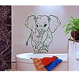 Mgdtt Adesivo Murale Modello Piccolo Elefante Per La Decorazione Domestica Della Camera Da Letto Della Scuola Materna Della Parete Del Vinile Decorativo Carta Da Parati Modellata Dell'Elefante 57X57Cm