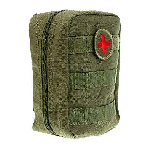 MagiDeal Taktische Molle Tasche Erste Hilfe Versorgungstasche EMT Medizinische Notfalltasche für Outdoor Camping Wandern Erste Hilfe Pouch - Armeegrün