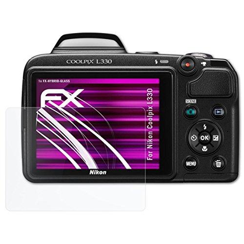 as Folie Nikon Coolpix L330 Glasfolie - FX-Hybrid-Glass elastische 9H Kunststoff Panzerglasfolie - besser als Echtglas Panzerglas (Nikon Coolpix L330-kamera)