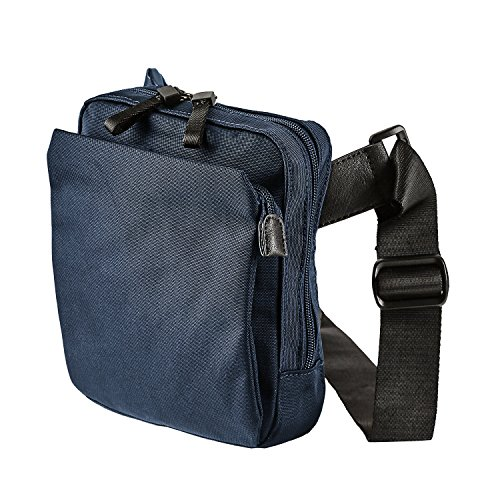 Jost Messenger Bag with zip S Soho Black [8] Nero Blu