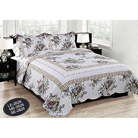 Forentex- Colcha reversible,(240x260cm) Estampada cocida-de verano, set de cama,ropa de cama,ropa barata,(LE-2626)