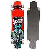 Skateboard completo di tipo longboard, lungo 110cm