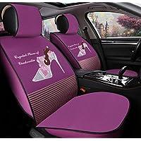 FM Cojín De Coches De Las Señoras Cute Cartoon Seat Lace Cuatro Estaciones Del Coche Cojín De Coches , Purple,purple