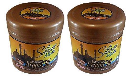Traitement Cheveux Huile d'Argan Marocaine en silicone Mix 16 Oz (Lot de 2)