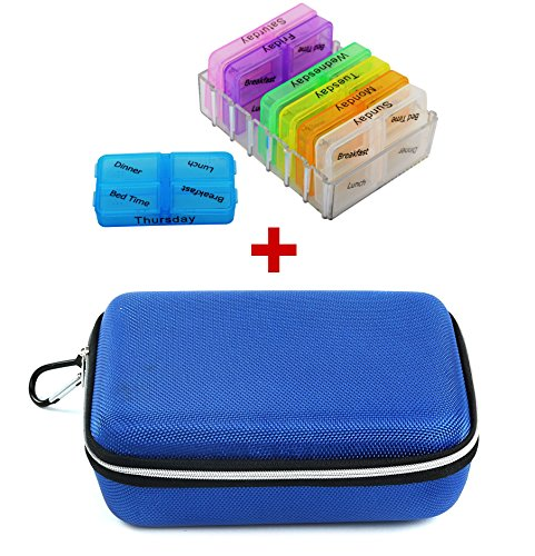 Store2508™ Combo Deal – 7 Days Medicine Pill Organiser + Zippered EVA...