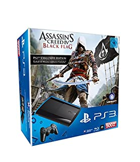 PlayStation 3 - Konsole Super Slim 500 GB (inkl. DualShock 3 Wireless Controller + Assassin's Creed: Black Flag) (B00EP7ZJ78) | Amazon price tracker / tracking, Amazon price history charts, Amazon price watches, Amazon price drop alerts