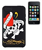 Ed Hardy Love Kills Coque silicone pour iPhone 3G / 3GS Noir