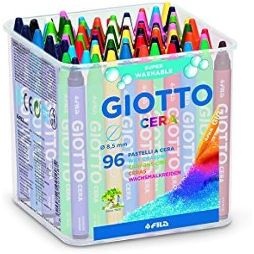 galeria de dibujos kawaii Giotto 523600 - Bote de 96 ceras redondas de colores