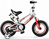 Y & Y TOY STORE ON LINE Kids' Space Bike Bicycle, Silver Frame-Red