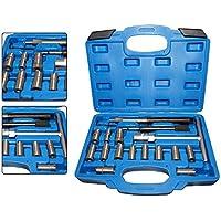 Z&Y 17 piezas Inyectores sellado asiento inyector asiento fresado cortador inyector kit de herramientas de fresado NUEVO