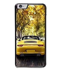 PrintVisa Designer Back Case Cover for Apple iPhone 6s Plus :: Apple iPhone 6s+ (Sobber Car In Yellow Design)