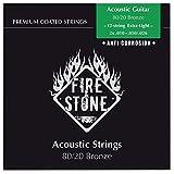 Fire&Stone Saiten für Akustikgitarre Set 80/20 Bronze - 12-string Extra Light