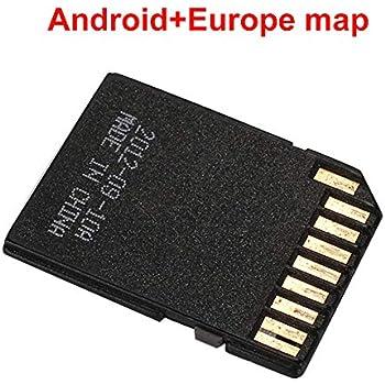 Jiayuane Europa Mapa de navegacion Sistema Android 16 GB para el Reproductor de DVD estéreo para el automóvil en el Tablero Radio de navegación GPS