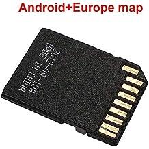 Haihuic Europa Mapa de navegación GPS Sistema Android Tarjeta de Memoria de 16GB para el Reproductor