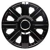 TopTech Torque 14 Inch Wheel Trim Set Gloss Black Set of 4 Hub Caps Covers