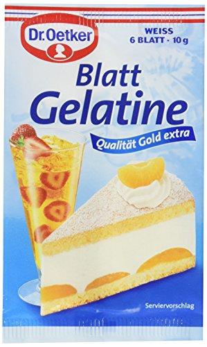 Dr. Oetker Blattgelatine, 10er Pack (10 x 10 g)