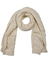 EOZY Damen Winter DickerStrick Schal Beige