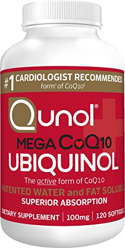 Qunol Mega CoQ10 UBIQUINOL, Superior Absorption, Patented Water and Fat...
