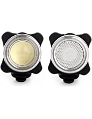 Agapo LED Phare Lampe de vélo COB Avant et Arrière Rechargeable, Cyclisme Phares Avant et Arrière, éclairages Vélo à LED, Résistant à l'eau, Lumière Set Avant et Arrière de vélos, Lampe Vélo, 450lm, 2 Câbles USB