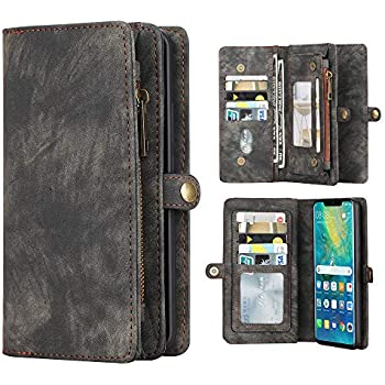 7ad79807d2a64 Eastcoo Kompatibel Mate 20 Pro Hülle Brieftasche Handyhülle Abnehmbar  Multifunktional Leder Folio Flip Kartenfach Wallet Schutzhülle Tasche Case  Cover Für ...