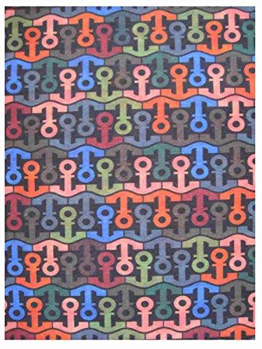 Multifunktionstuch im Anker-Design, mehrfarbig