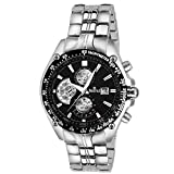Swisstyle expedition Chronograph look black dial analog watch for men-SS-GR6614-BLK-SLV