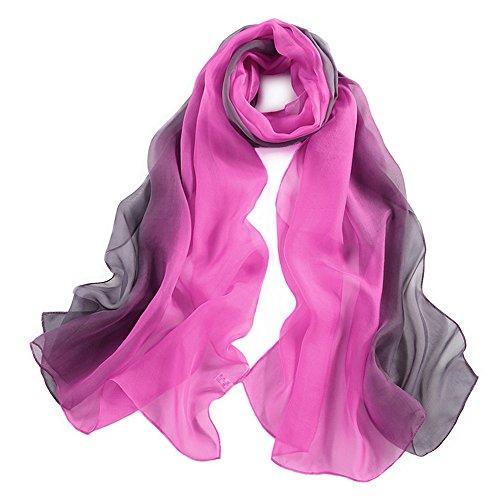 pañuelo de seda Mujer 100% seda Mantón Bufanda Moda Chals Señoras E