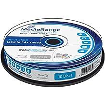 MediaRange MR496 25GB BD-R 10pieza(s) disco blu-ray lectura/escritura (BD) - BD-RE vírgenes (4x, Caja para pastel, 10 pieza(s))
