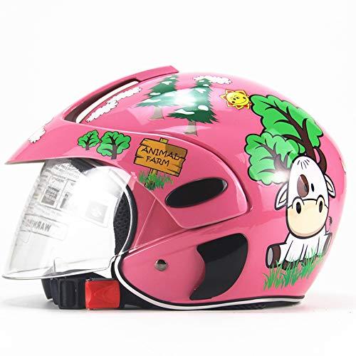 MMRLY Kinder Fahrradhelm, Winterreiten, Motorrad, elektrisch, Fahrrad, Fahrradhelm, geeignet für Kinder von 3 bis 7 Jahren, der Kopfumfang überschreitet Nicht 55 cm
