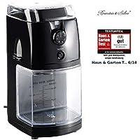 Rosenstein & Söhne Espressomühle: Elektrische Kaffeemühle mit hochwertigem Scheibenmahlwerk (Espresso-Kaffeemühle)
