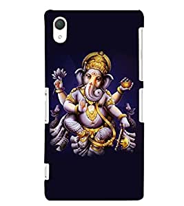 Printvisa Lord Ganesha In A Plain Background. Back Case Cover for Sony Xperia Z2::Sony Xperia Z2 L50W D6502 D6503