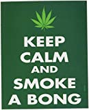 WEED INDEED en efecto!! Keep Mantenga Calm Rub-On Frote-On Marijuana STICKER ETIQUETA Officially Licensed Marijuana Weed Pot / Pop Culture Artwork, 4.75' x 4' Long Lasting STICKER ETIQUETA Decal